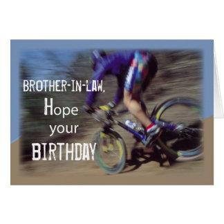 El cuñado se divierte cumpleaños de la bici de tarjeta de felicitación
