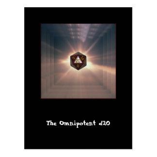 El d20 omnipotente - postal