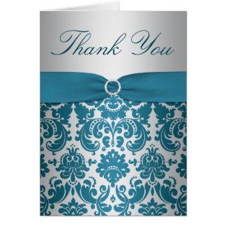 El damasco de la plata y del trullo le agradece ca tarjeta de felicitación