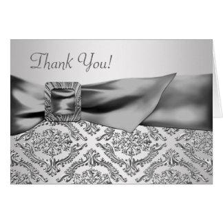 El damasco de plata le agradece las tarjetas