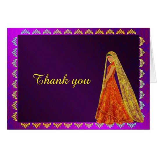 El damasco elegante del vestido de boda de la tarjeta de felicitación