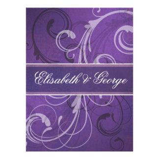 El damasco violeta remolina púrpura del efecto del comunicados