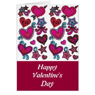 El day-1 de la tarjeta del día de San Valentín