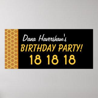 El décimo octavo cumpleaños del personalizado o cu impresiones