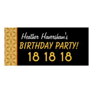 El décimo octavo cumpleaños del personalizado o cu poster