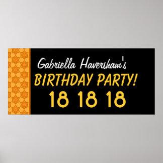 El décimo octavo cumpleaños del personalizado o póster