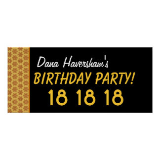 El décimo octavo cumpleaños del personalizado o impresiones