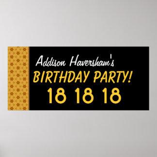 El décimo octavo cumpleaños del personalizado o poster