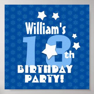 el décimo octavo o cualquier cumpleaños póster