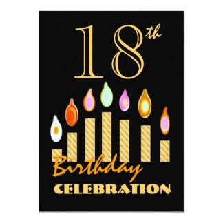 el décimo octavo o cualquier oro del cumpleaños invitación 11,4 x 15,8 cm