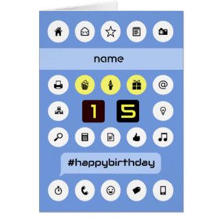 el décimo quinto cumpleaños añade la computación tarjeta