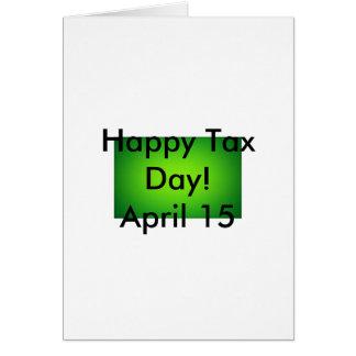 El decir del día del impuesto de Ishah Laurah de Tarjeton