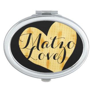 El decir lindo del aprecio del Matzah Espejos De Maquillaje