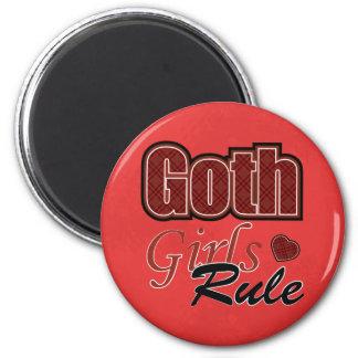 El decir rojo de la regla de los chicas del gótico imán