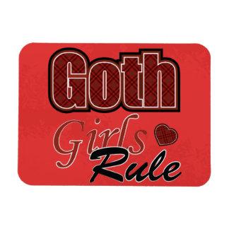 El decir rojo de la regla de los chicas del gótico imán flexible