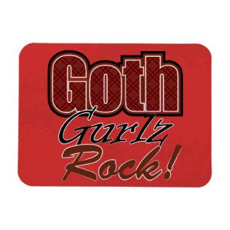 El decir rojo de la roca de Gurlz del gótico de la Imán Flexible