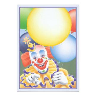 El © del payaso de circo invitación 12,7 x 17,8 cm