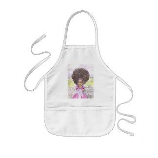 El delantal del niño del Afro de Rapunzel