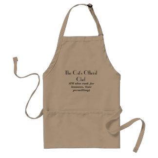 El delantal oficial del cocinero del gato