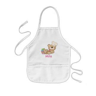 El delantal personalizado de Mila