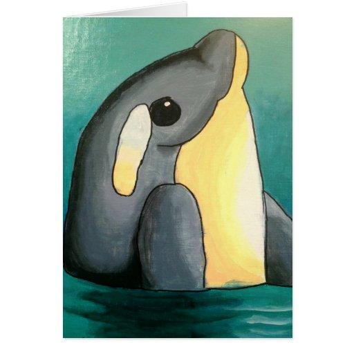 El delfín Notecard de Dina Tarjetón