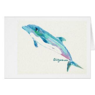 El delfín soña la tarjeta de nota