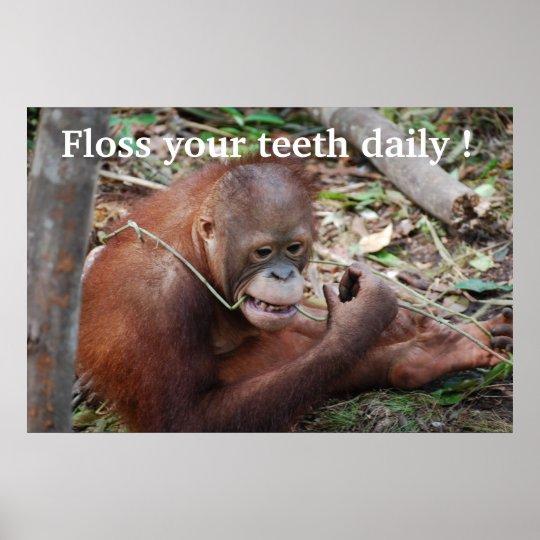 El dentista de los niños de la seda del cuidado póster