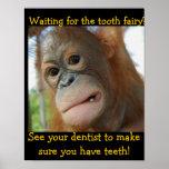 El dentista de los niños divertidos del ratoncito  poster
