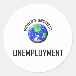 El desempleo más grande del mundo pegatina redonda