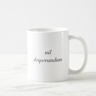 el desperandum de la nada nunca se desespera itáli taza de café