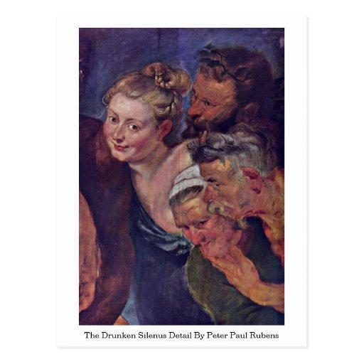El detalle borracho de Silenus de Peter Paul Ruben Tarjetas Postales