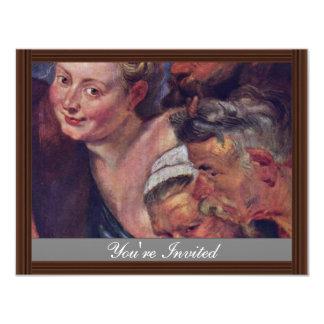El detalle borracho de Silenus de Rubens Peter Invitación