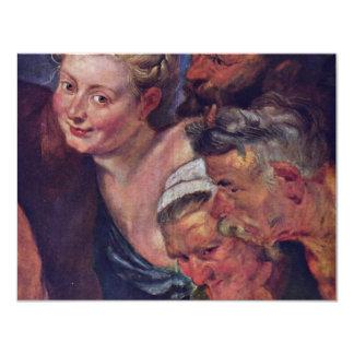 El detalle borracho de Silenus de Rubens Peter Invitación 10,8 X 13,9 Cm