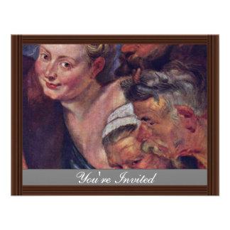El detalle borracho de Silenus de Rubens Peter Pau Invitación