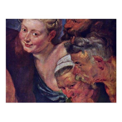 El detalle borracho de Silenus de Rubens Peter Pau Postal