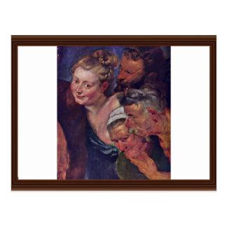 El detalle borracho de Silenus de Rubens Peter Pau Tarjeta Postal