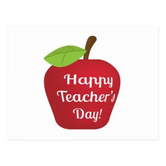 El día Apple del profesor feliz Tarjeta Postal