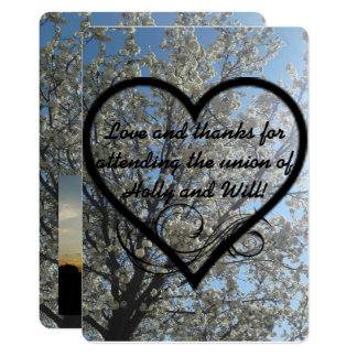 El día de boda le agradece las tarjetas invitación 12,7 x 17,8 cm