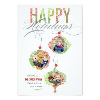 El día de fiesta adorna la tarjeta de la foto invitación 12,7 x 17,8 cm