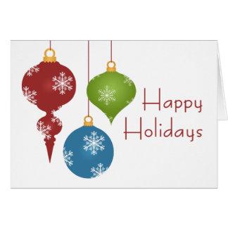El día de fiesta adorna tarjetas de Navidad