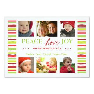 El día de fiesta de la alegría del amor de la paz invitación 12,7 x 17,8 cm