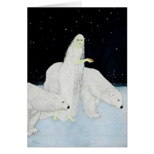 El día de fiesta del navidad de los osos polares tarjeta de felicitación