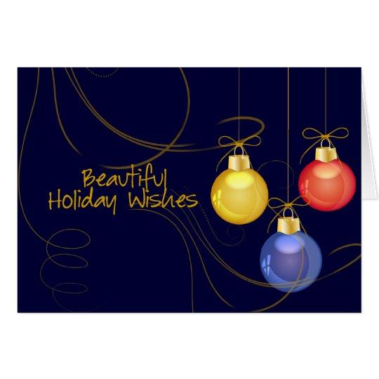 El día de fiesta desea la tarjeta de Navidad