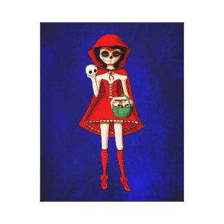 El día de la capa con capucha roja muerta impresión en lona estirada