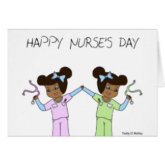 El día de la enfermera feliz - destino y fe tarjeta pequeña