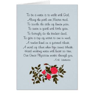 """El día de la enfermera, """"ser poema de una tarjeta"""