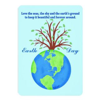 El Día de la Tierra promueve el árbol del planeta Invitación 12,7 X 17,8 Cm