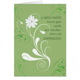 El día de las enfermeras le agradece todos tarjeta de felicitación