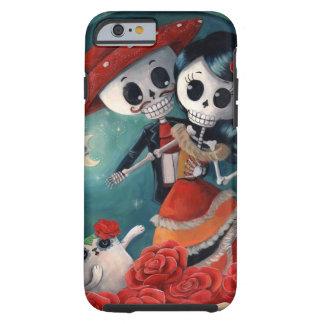 El día de los amantes esqueléticos muertos funda para iPhone 6 tough