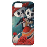 El día de los amantes esqueléticos muertos funda para iPhone SE/5/5s